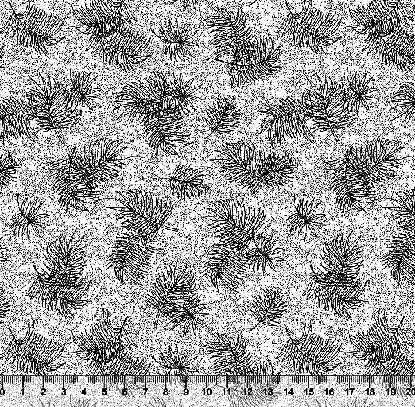 Tecido Tricoline Folhas De Samambaia 3622