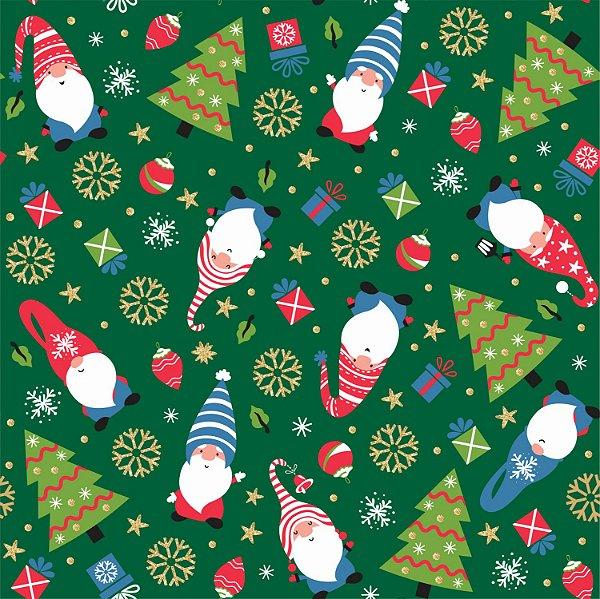 Tecido Tricoline Elfos 7120 - Natal