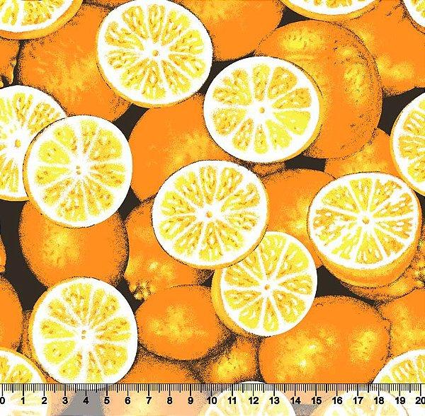 Tecido Tricoline Limões Alaranjados 5062-02