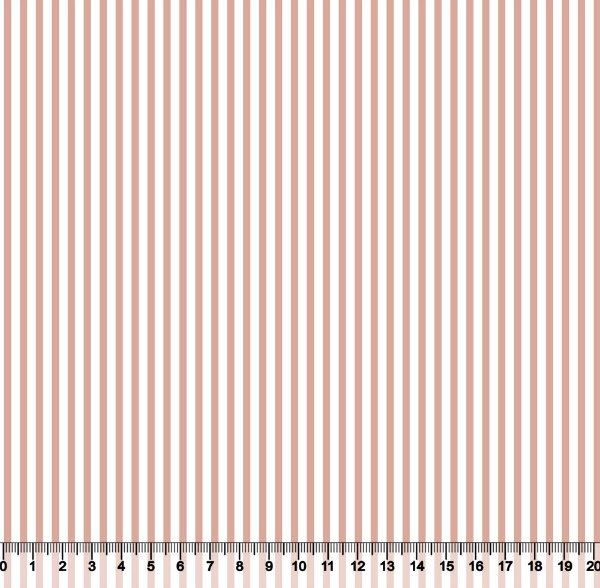 Tecido Tricoline Listrado Rosa Seco e Branco 1382-48