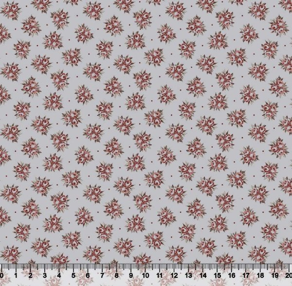 Tecido tricoline buquê de flores