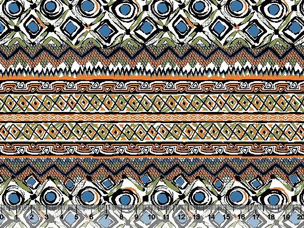 Tecido tricoline étnico