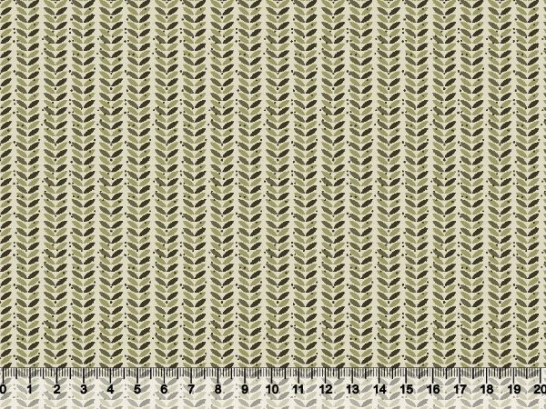 Tecido tricoline folhas secas