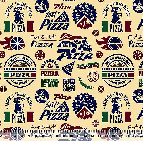 Tecido tricoline pizza