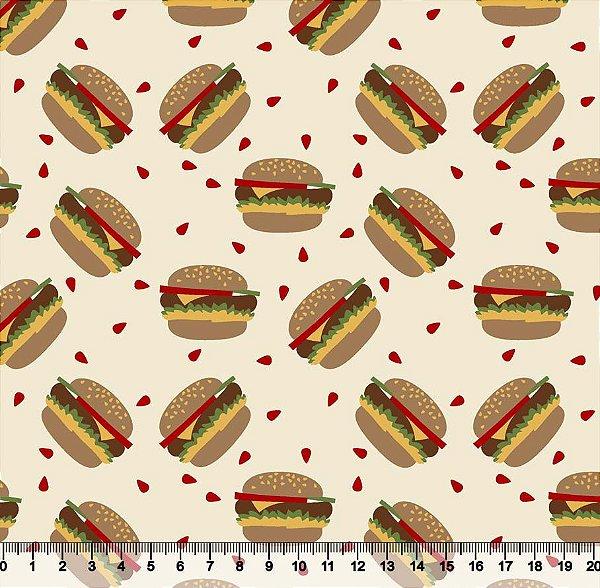 Tecido tricoline hambúguer