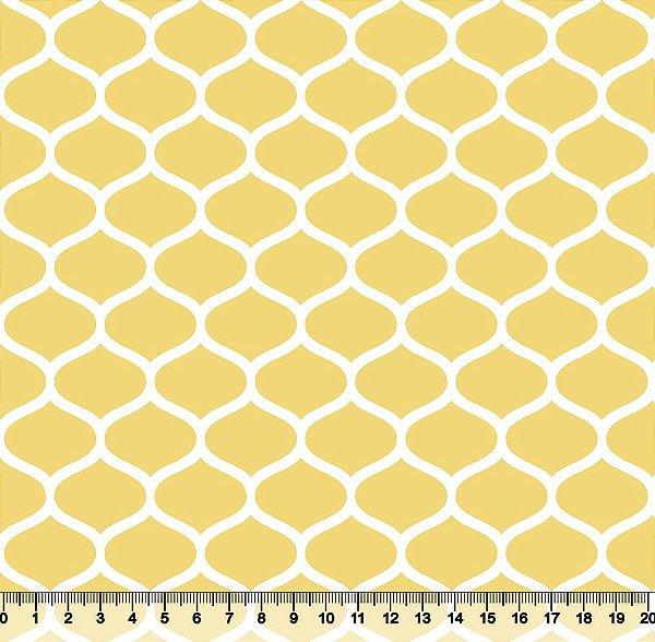 Tecido tricoline favos geométricos