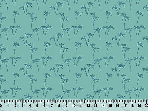 Tecido tricoline palmeiras