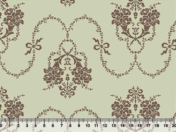 Tecido tricoline ornamento provençal