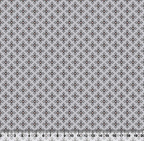 Tecido tricoline Geométrico Cruzinha Estilizado