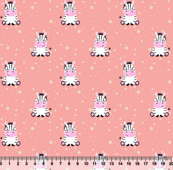 Tecido tricoline zebra infantil