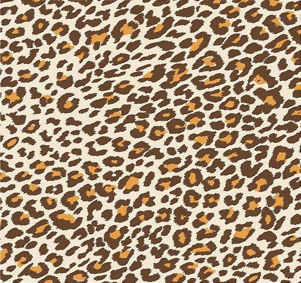 Tecido tricoline oncinha animal print