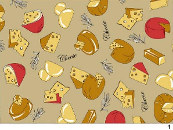 Tecido tricoline queijos