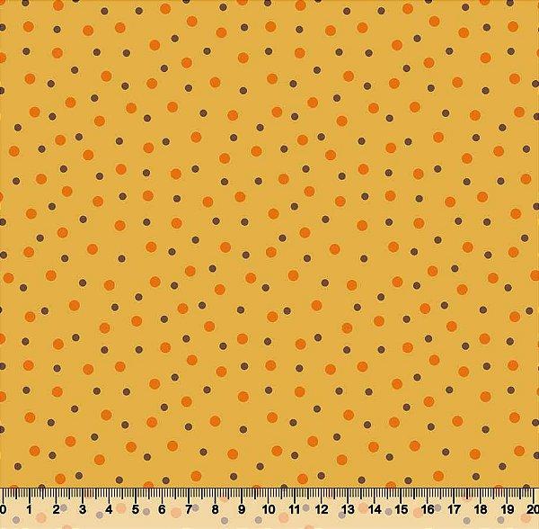 Tecido Tricoline Poá Bolinha tamanhos diferentes
