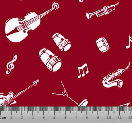 Tecido Tricoline Instrumentos Musicais