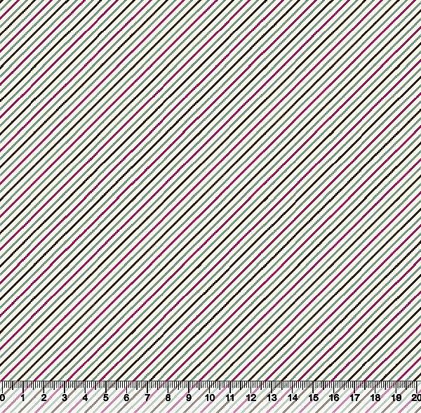 Tecido tricoline listra diagonal