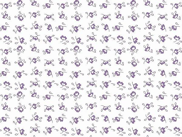 Tecido Tricoline Mini Floral Tom Tom