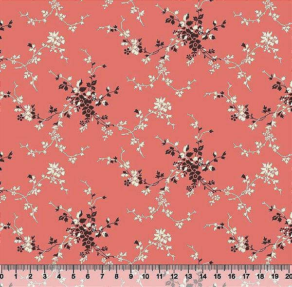 Tecido Tricoline Mini Floral
