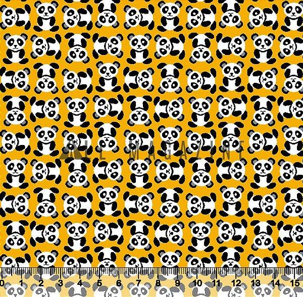 Promoção 1 metro  Tricoline Ursinho Panda Amarelo