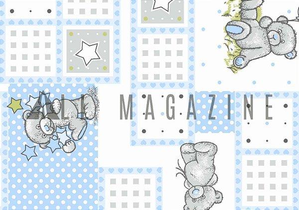 Tecido Tricoline Baby Ursinho Estrelas