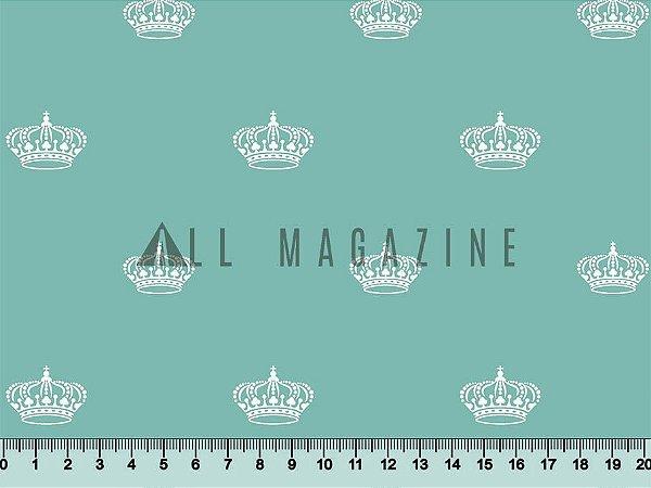 Tecido tricoline Coroas Príncipe Princesa