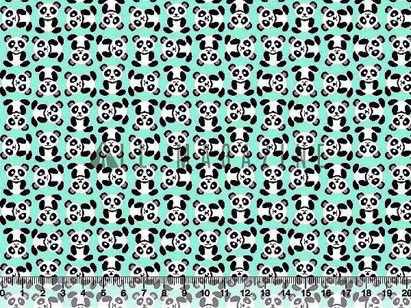 Tecido tricoline Pandas
