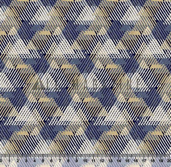 Tecido Tricoline Triângulos abstratos