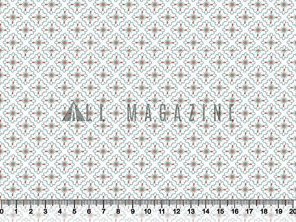 Tecido tricoline Losangos Estilizados