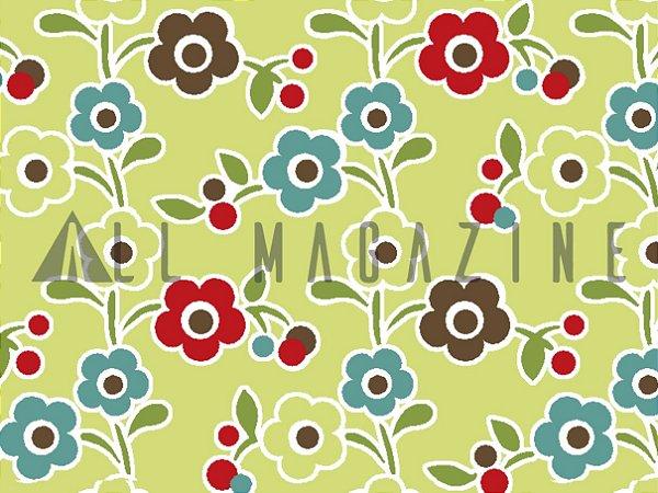 Tecido Tricoline Florzinhas Coloridas
