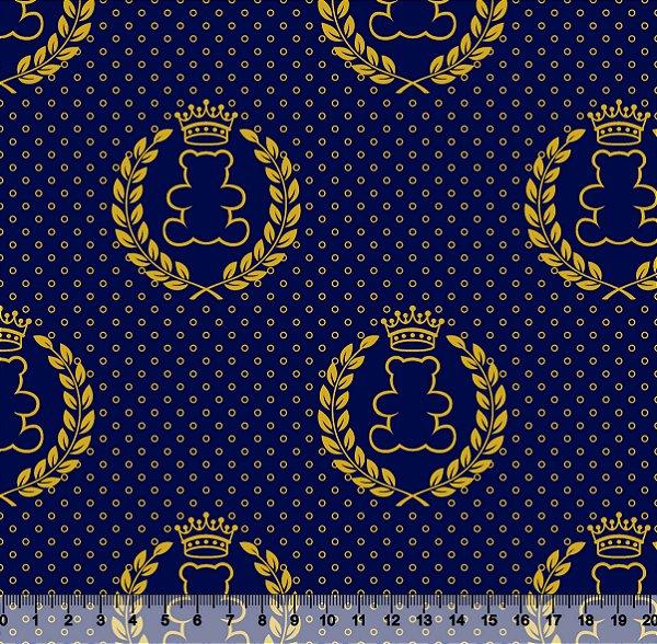 Tecido Tricoline Ursinho Coroa 2644