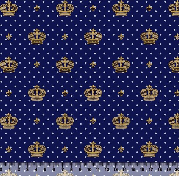 Tecido Tricoline Coroa Poá
