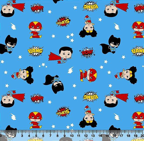 Tecido Tricoline Mini Heróis 5445