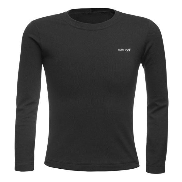 Blusa Segunda Pele Solo T-Shirt X-Thermo DS Kids Preto