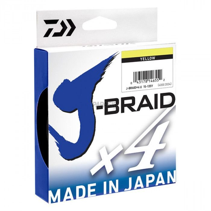 Linha Daiwa J-Braid X4 Amarela 270m - 50lb 0.33mm