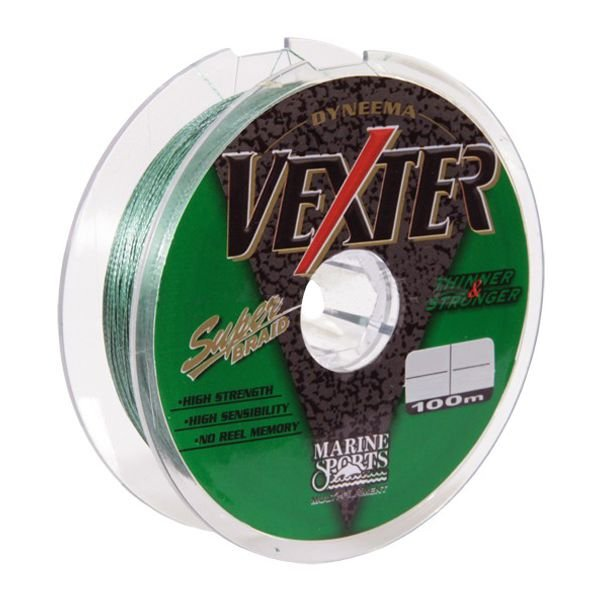Linha MS Vexter Multifilamento Verde 100m - 20lb 0.19mm (9kg)