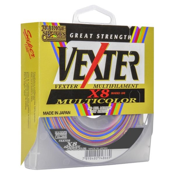 Linha MS Vexter X8 Multicolor 300m - 50lbs 0.35mm