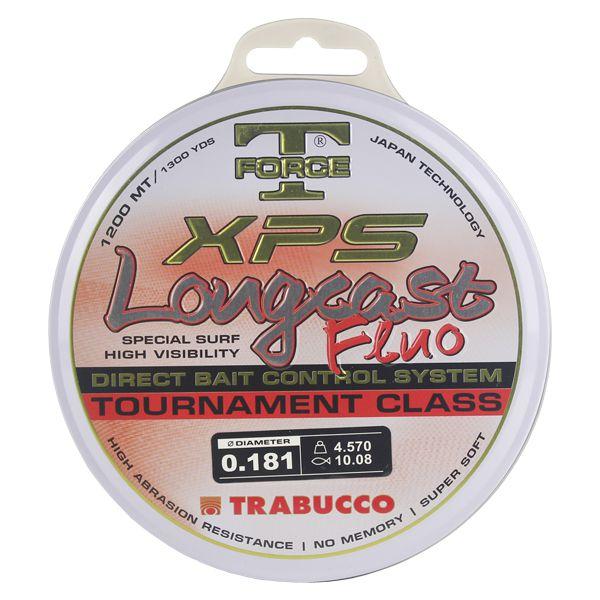 Linha Trabucco XPS Longcast Fluo 1200m 0.18mm - Laranja