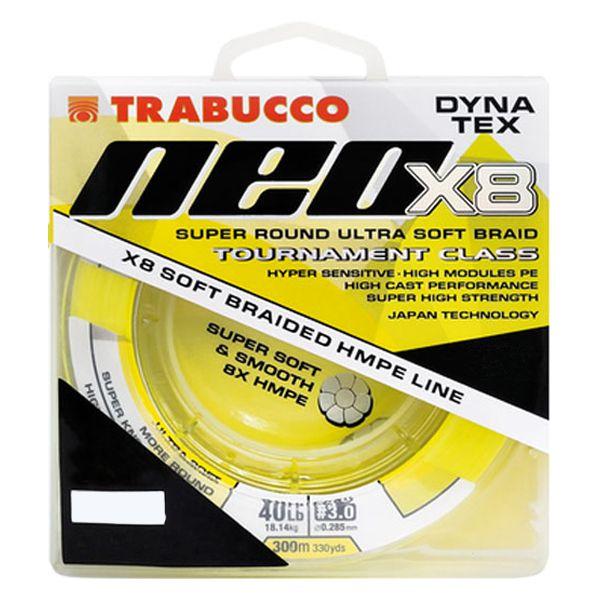 Linha Trabucco Dyna Tex Neo X8 150m 0.20mm 25lb - Amarela