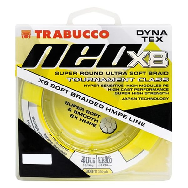 Linha Trabucco Dyna Tex Neo X8 150m 0.23mm 30lb - Amarela