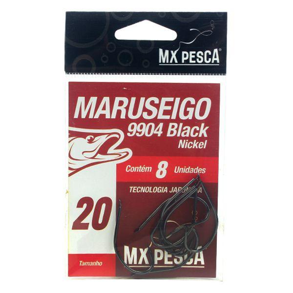 Anzol MX Pesca Maruseigo Black Nickel #20 - 8pçs