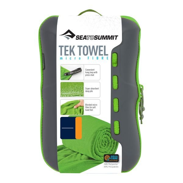 Toalha Tek Towel Sea to Summit S (P) 40x80cm 140g - Verde