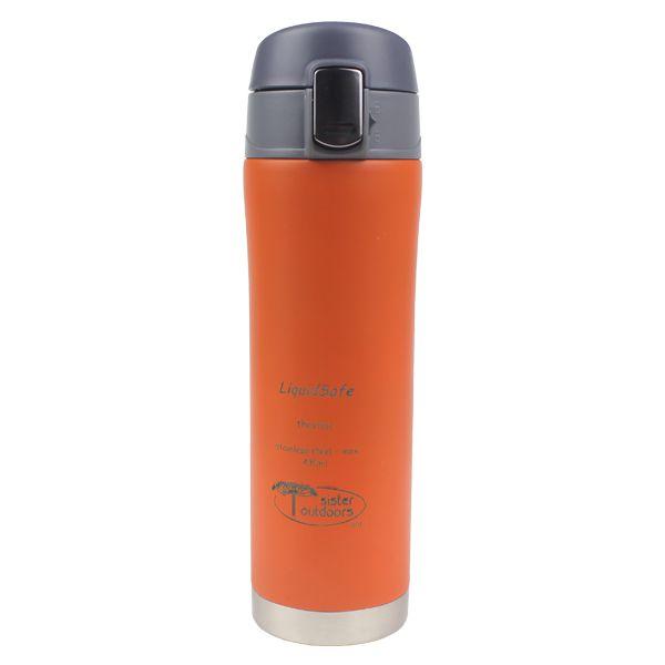 Garrafa Inox LiquidSafe Mug 430ml c/ Tampa Basculante - Laranja