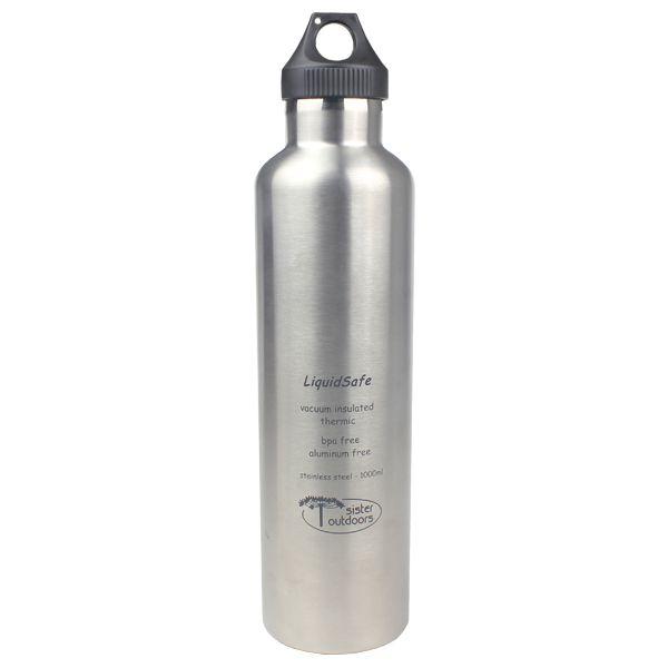 Garrafa Térmica Inox Bpa Free LiquidSafe 1000ml - Prata