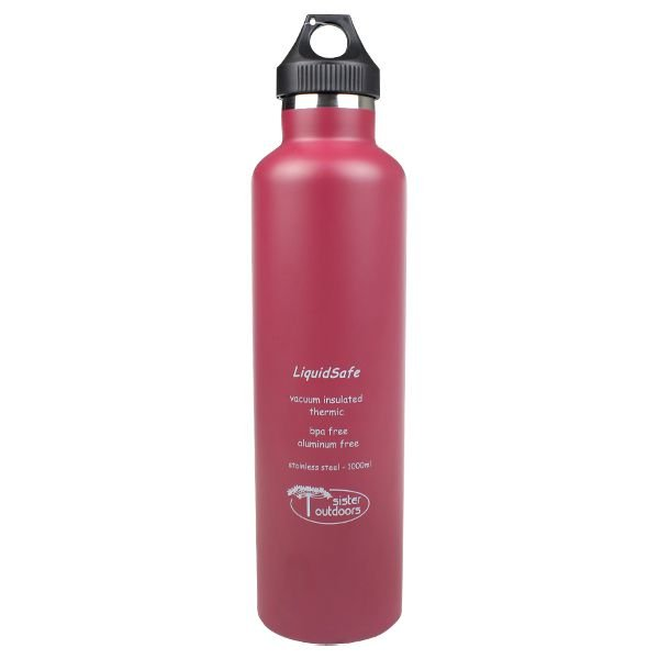 Garrafa Térmica Inox Bpa Free LiquidSafe 1000ml - Vinho