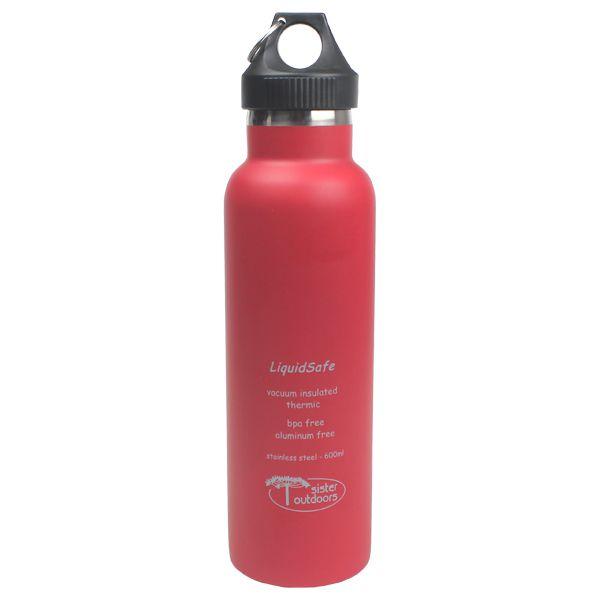 Garrafa Térmica Inox Bpa Free LiquidSafe 600ml - Vermelho