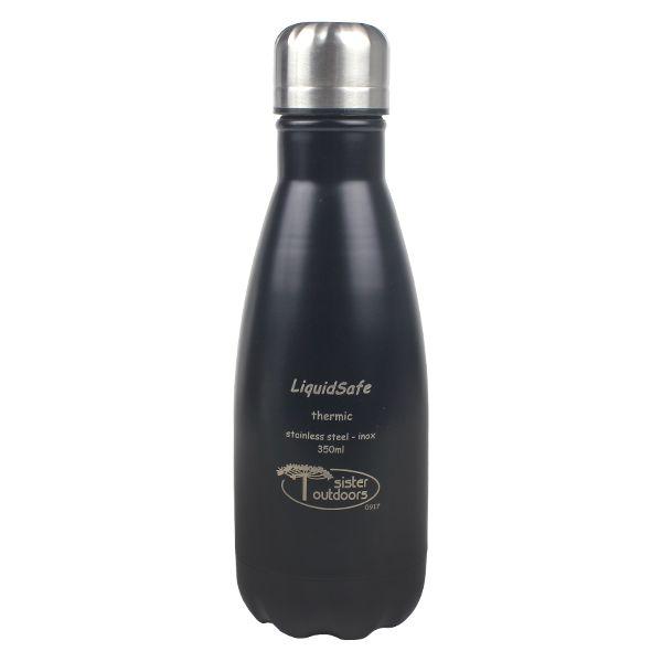 Garrafa Térmica Inox Liquidsafe Best 350ml - Preta