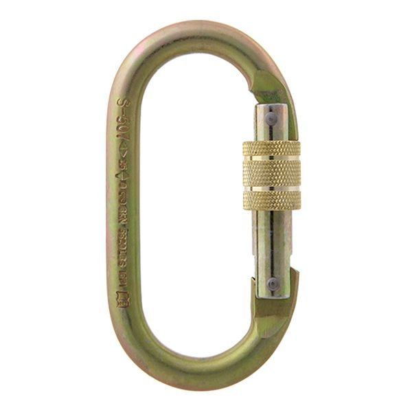 Mosquetão Aço Oval Dupla Trava Manual 25kn S-507 (CE0321)