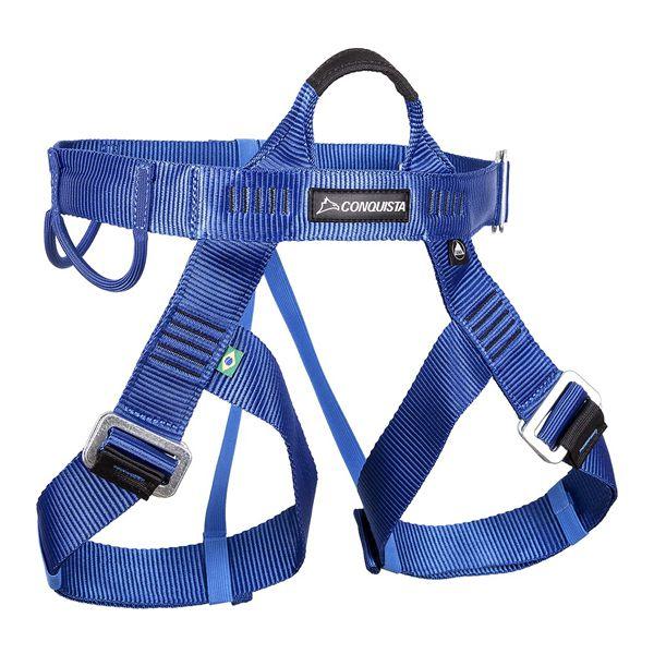Cadeirinha p/ Escalada Conquista Canyoning (Ajuste Rápido) - Azul