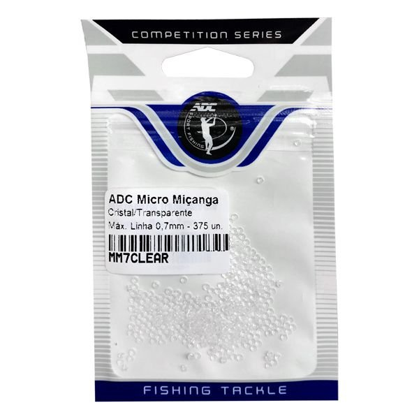 Miçanga Micro ADC MM7CLEAR Até 0.70mm 375pçs - Transparente