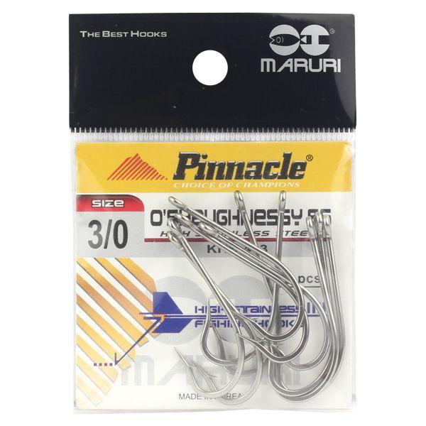 Anzol Inox Pinnacle O'Shaughnessy SS #3/0 - 10pçs