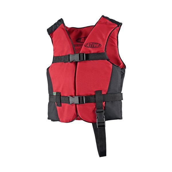 Colete Náutico Infantil Ativa Canoa 30kg - Vermelho